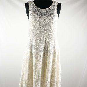 Free People Miles of lace fit and flare dress sz M
